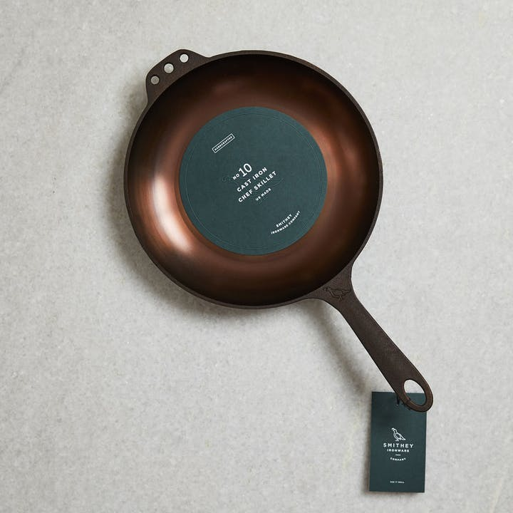 Smithey Cast Iron Chef Skillet