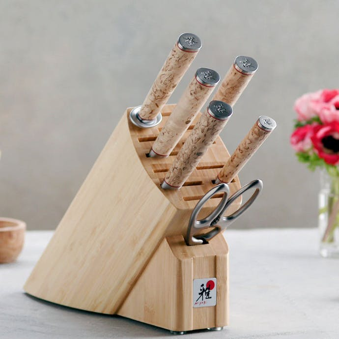 7-Piece Knife Set with Wood Block