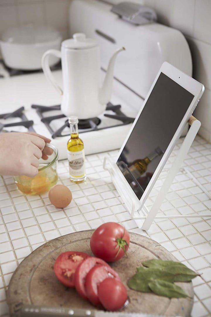 Cookbook and Tablet Stand - White