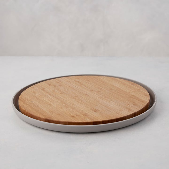 Bamboo Cutting Board with Plate