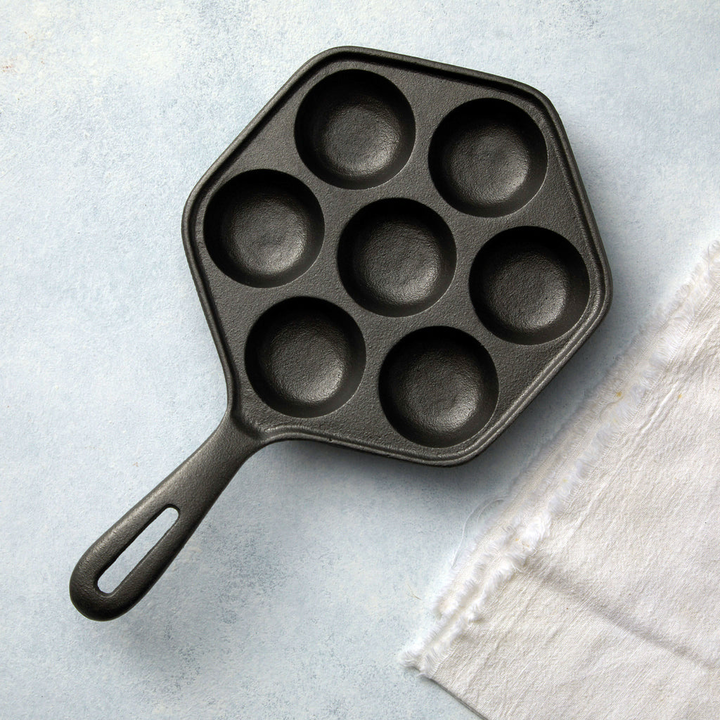 Aebleskiver Cast Iron Pan