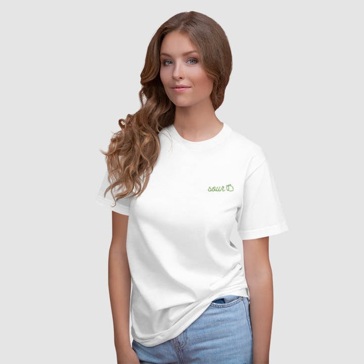 Taste Buds Embroidered T-Shirt