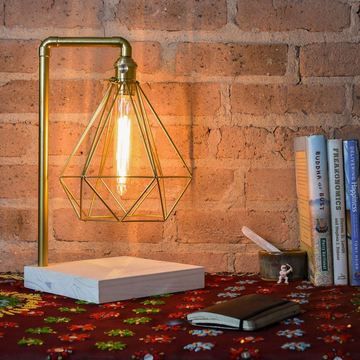 Brass Pipe Table Lamp